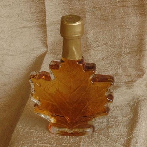 8.5 Oz Maple Leaf Glass Bottle $9.00